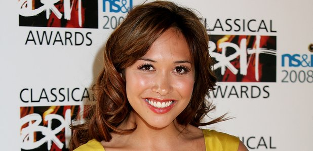 Myleene Klass in Yellow at the Classical Brits 200