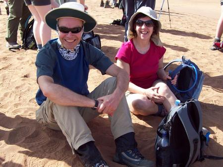 Trek Sahara - John and Mari