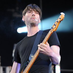 Alex James with Blur in Hyde Park