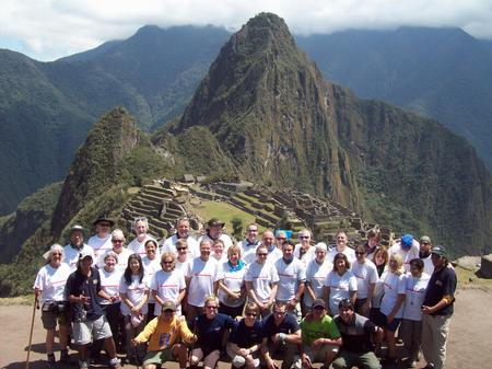 The Music Makers trek the Inca Trail team