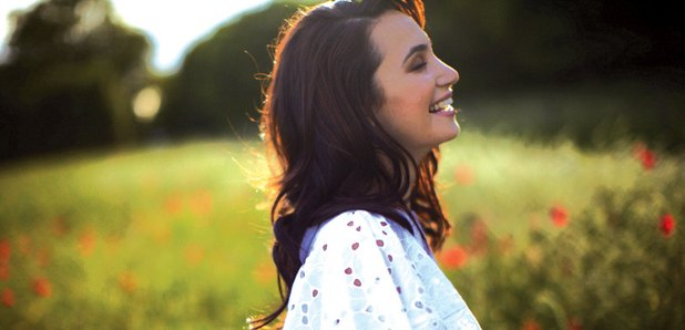 Laura Wright on set of her album photoshoot