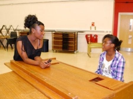 The Schools Prom - Taneisha Jackson and Stephanie
