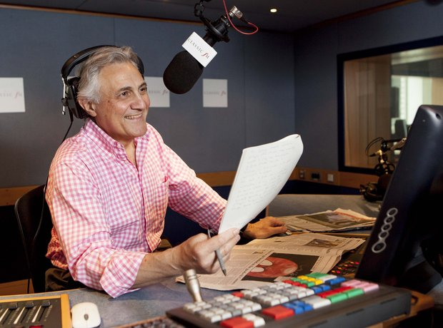 John Suchet in the Classic FM Studio