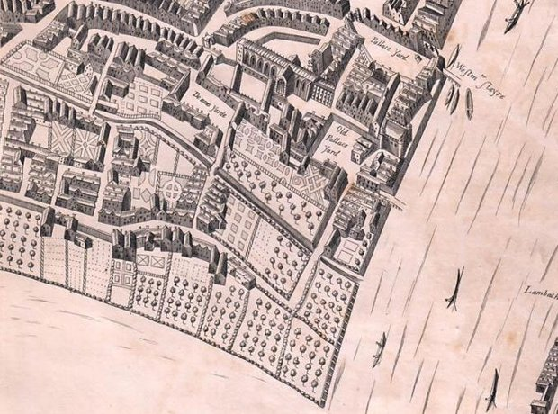 Map of Westminster 1650s