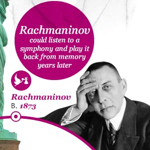 The memory of Rachmaninov was so good he could hear a symphony, then play it back the next day, year or decade after