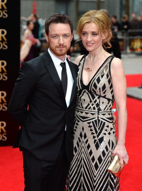 James McAvoy and Anne-Marie Duff arrive at the Olivier Awards 2013
