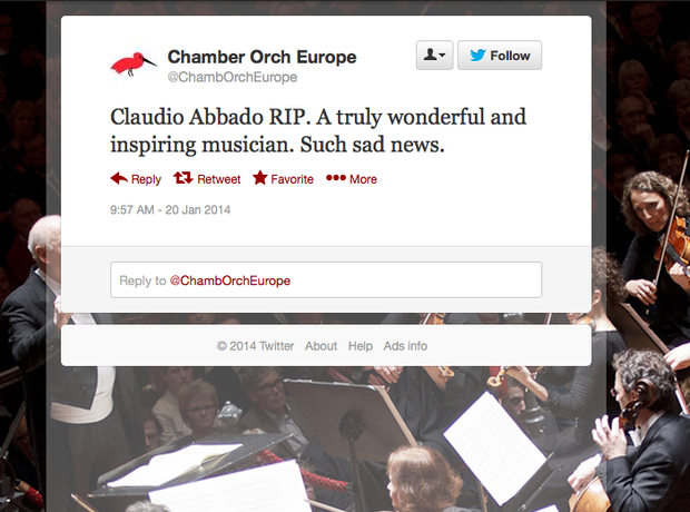 abbado twitter reaction