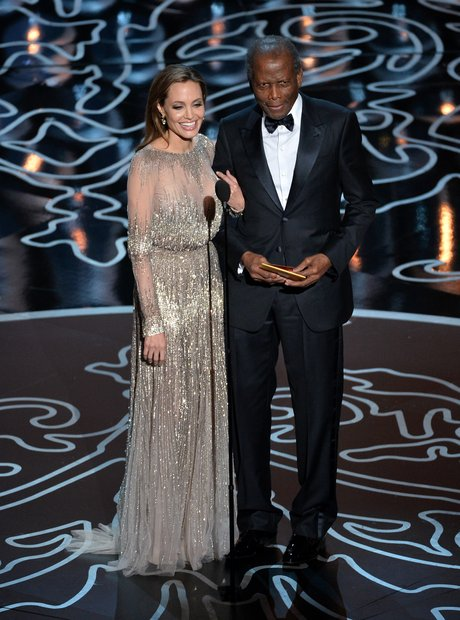 Angelina Jolie and Sidney Poitier at the Oscars 20