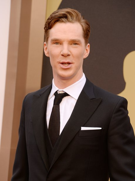 Benedict Cumberbatch at the Oscars 2014 red carpet