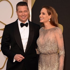 Brad Pitt and Angelina Jolie at the Oscars 2014