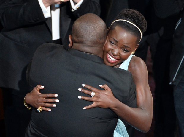 Lupita Nyong'o and Steve McQueen Oscars 2014