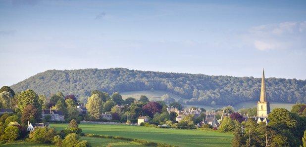 Cotswolds hills village gloucestershire