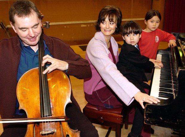 Julian Lloyd Webber cellist Cherie Blair
