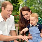 Duke and Duchess of Cambridge and George