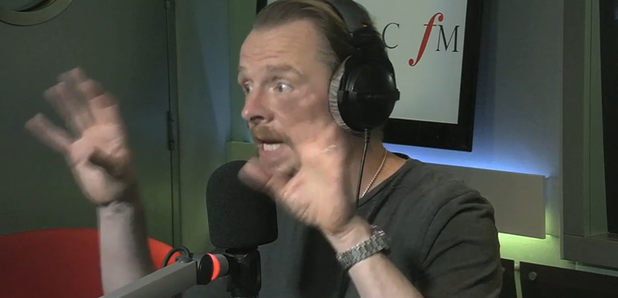 Simon Pegg at Classic FM