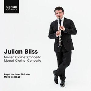 Julian Bliss Mozart Nielsen clarinet concertos
