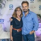 Alfie Boe backstage with Jane Jones during Classic