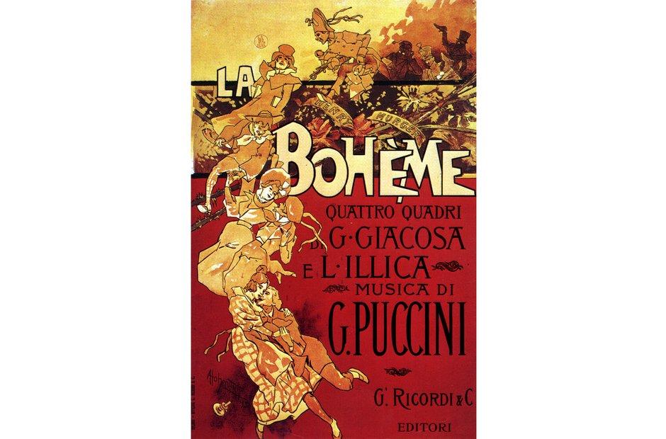 Vintage opera poster La bohème