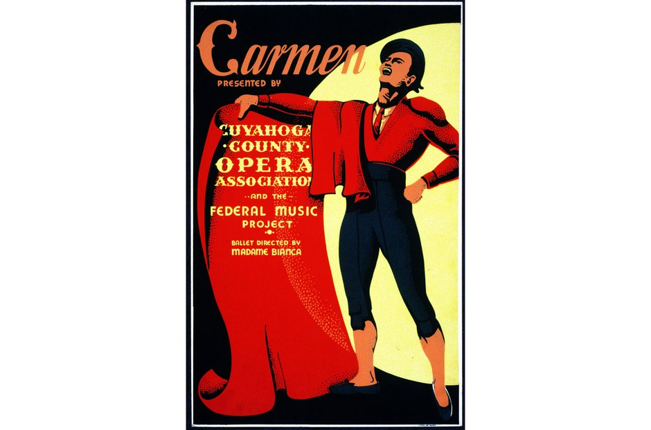 Vintage opera poster Carmen