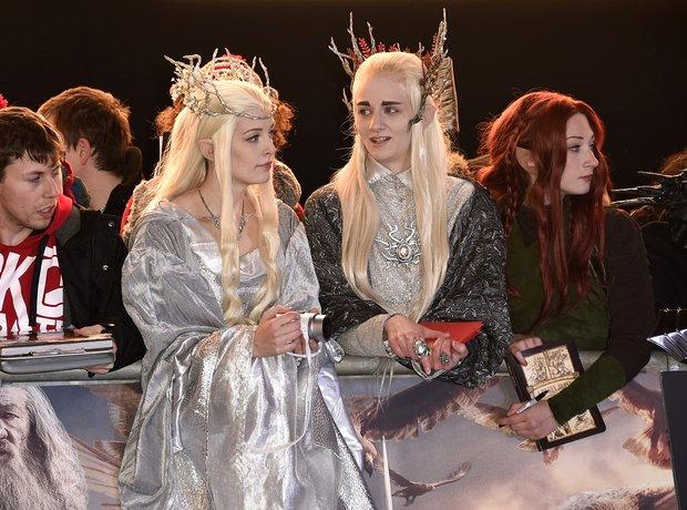 Fans at The Hobbit world premiere