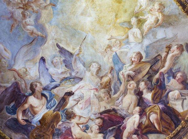 Vienna Baroque angel choirs fresco Michaelerkir