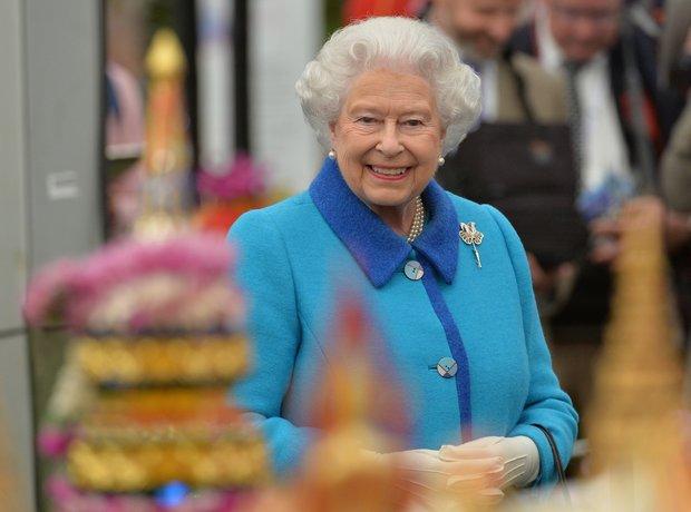 Queen Elizabeth II at the Chelsea Flower Show