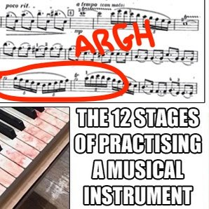 stages of practising a musical instrument