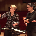 Marin Alsop conducting masterclass women and gestu