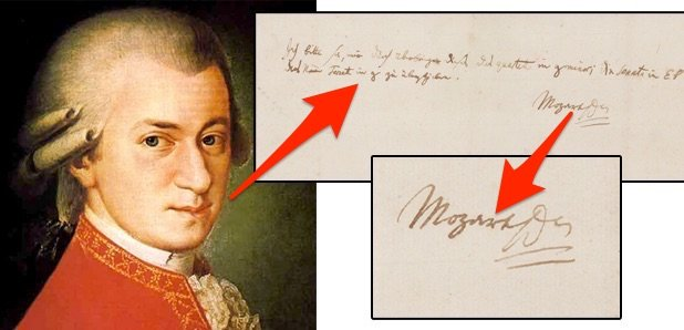 mozart letter auction