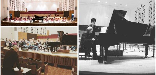 Einaudi Piano Concerto rehearsal