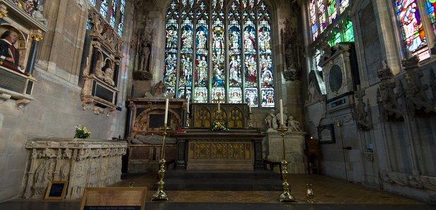 Holy Trinity Church Stratford-upon-Avon grave of S