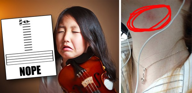 worst things about playing the violin