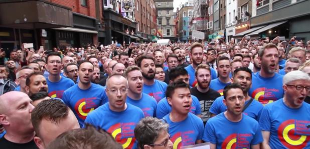 London Gay Men's Chorus Soho vigil