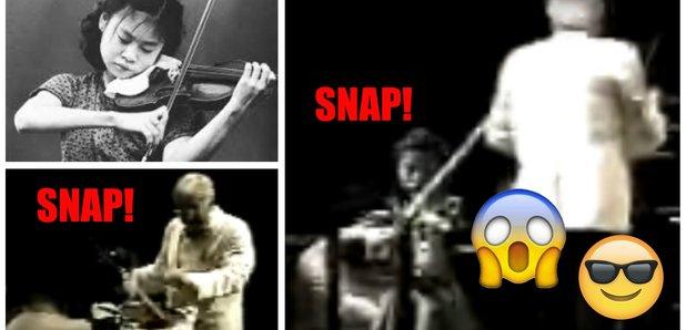 Midori violin string snap