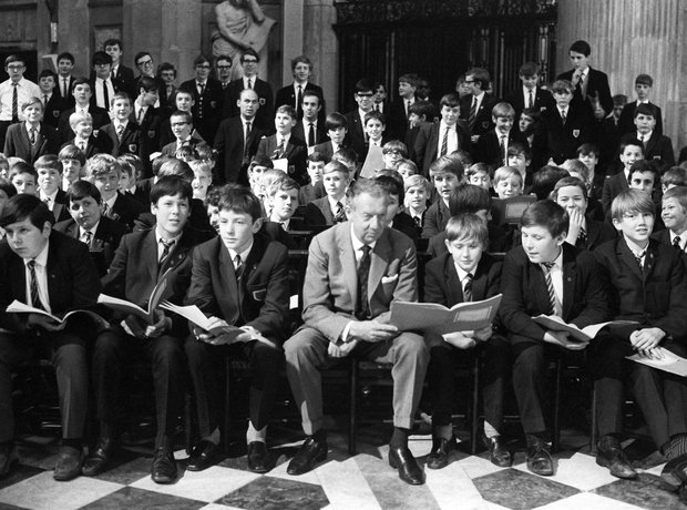 britten and school pupils