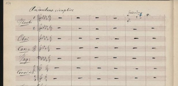 Tchaikovsky Piano Concerto manuscript